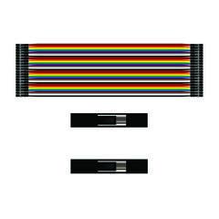 Соединительный кабель 1x40 пин мама-мама - 20см