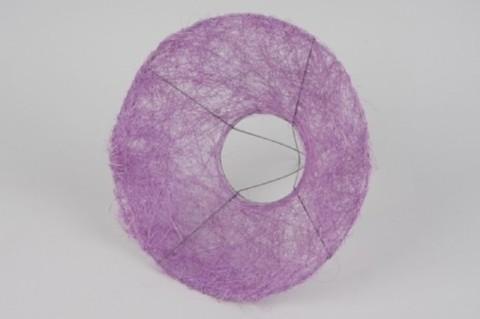 Каркас сизаль круглый пушистый (d=30 см.) Сиреневый 1шт.