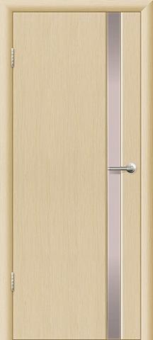 Дверь Ладора 3/1, цвет орех капучино, остекленная