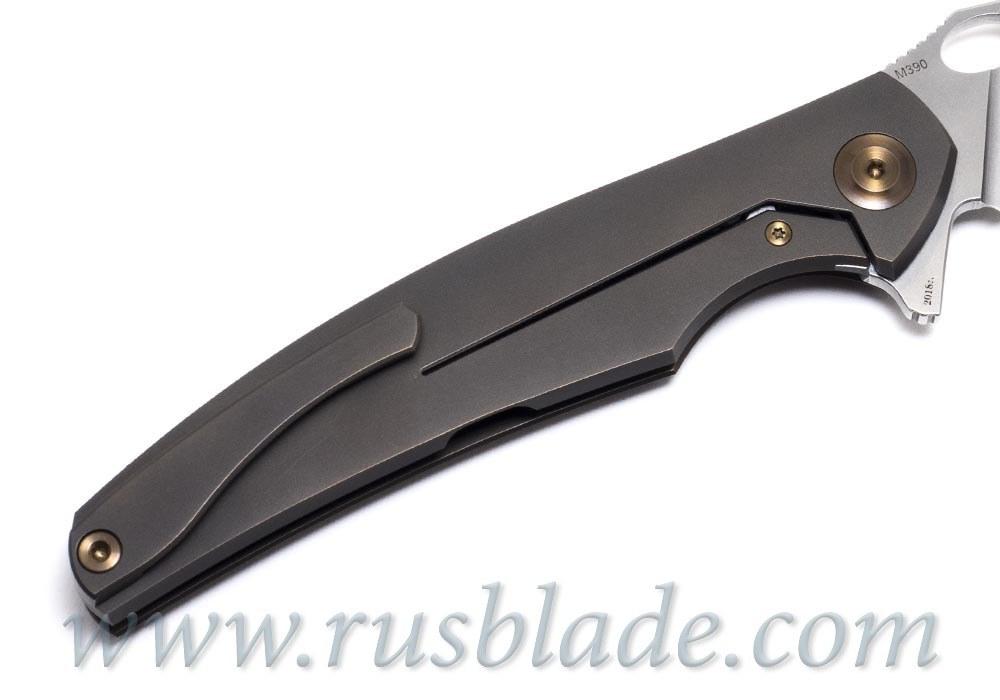 Cheburkov Raven M390 Titanium CF Folding Knife
