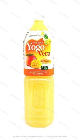 Корейский напиток с соском алоэ и манго Yogovera Мango, 1,5 л.