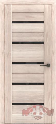 Дверь Л1ПГ1 стекло чёрное (капучино, остекленная экошпон), фабрика Владимирская фабрика дверей