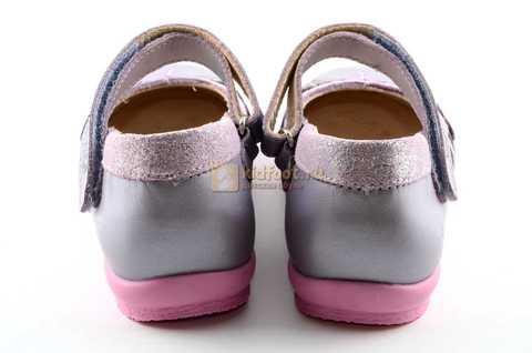 Туфли для девочек кожаные на липучке Тотто, цвет сиреневый, 10210B. Изображение 7 из 12.