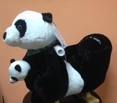 Rock My Baby Качалка меховая Панда (JR2591B)
