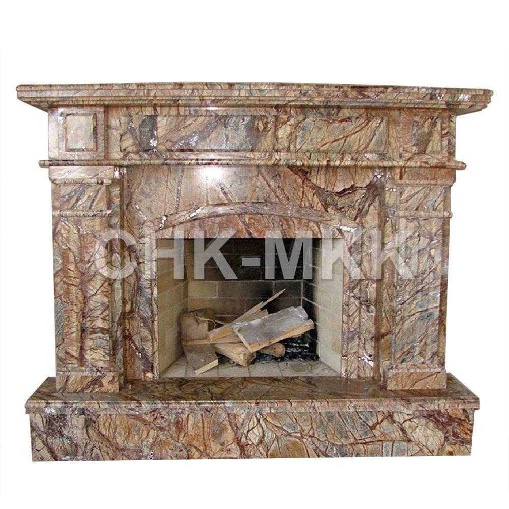 Портал для камина из мрамора Бидасар Браун
