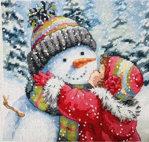 Набор для вышивания Поцелуй для снеговика. A Kiss for Snowman. Арт. 8833
