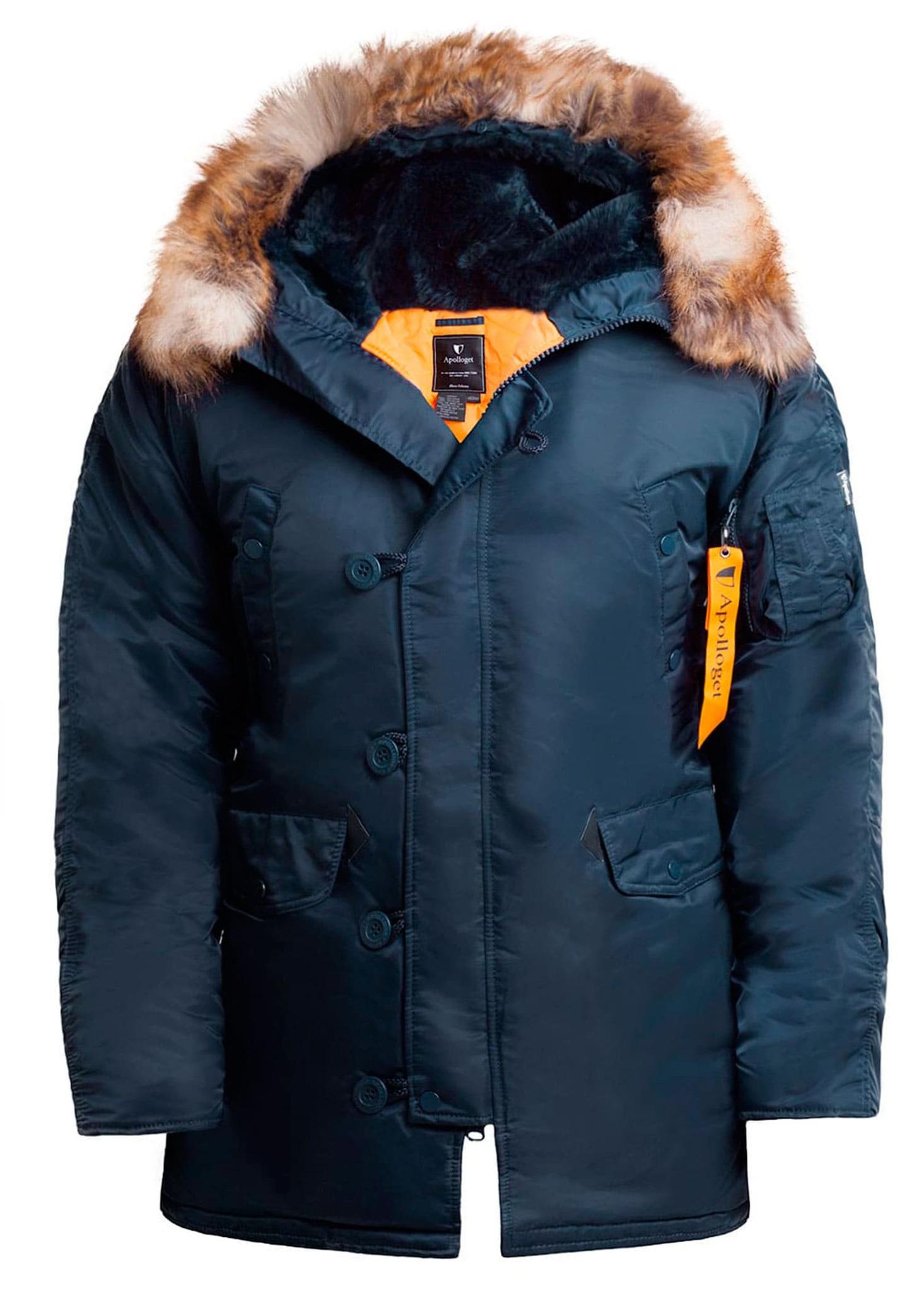 Куртка Аляска  N-3B  Husky Nord Storm 2019 (синий - r.blue/orange)