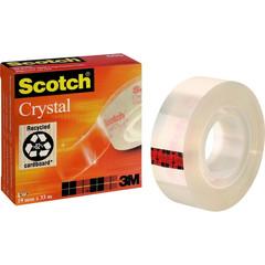Клейкая лента канцелярская 3M SCOTCH 600 19х33 кристально-прозрачная