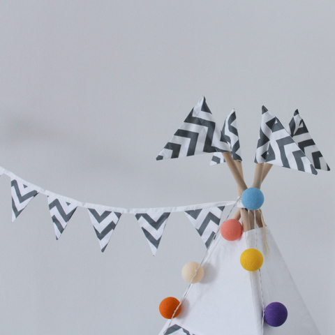 Вигвам Grey Zigzag Tipi (детский игровой домик, палатка)