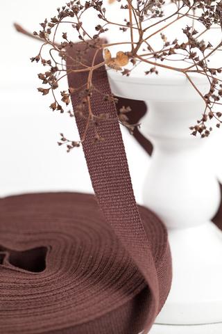 Хлопковая стропа красно-коричневая 20 мм