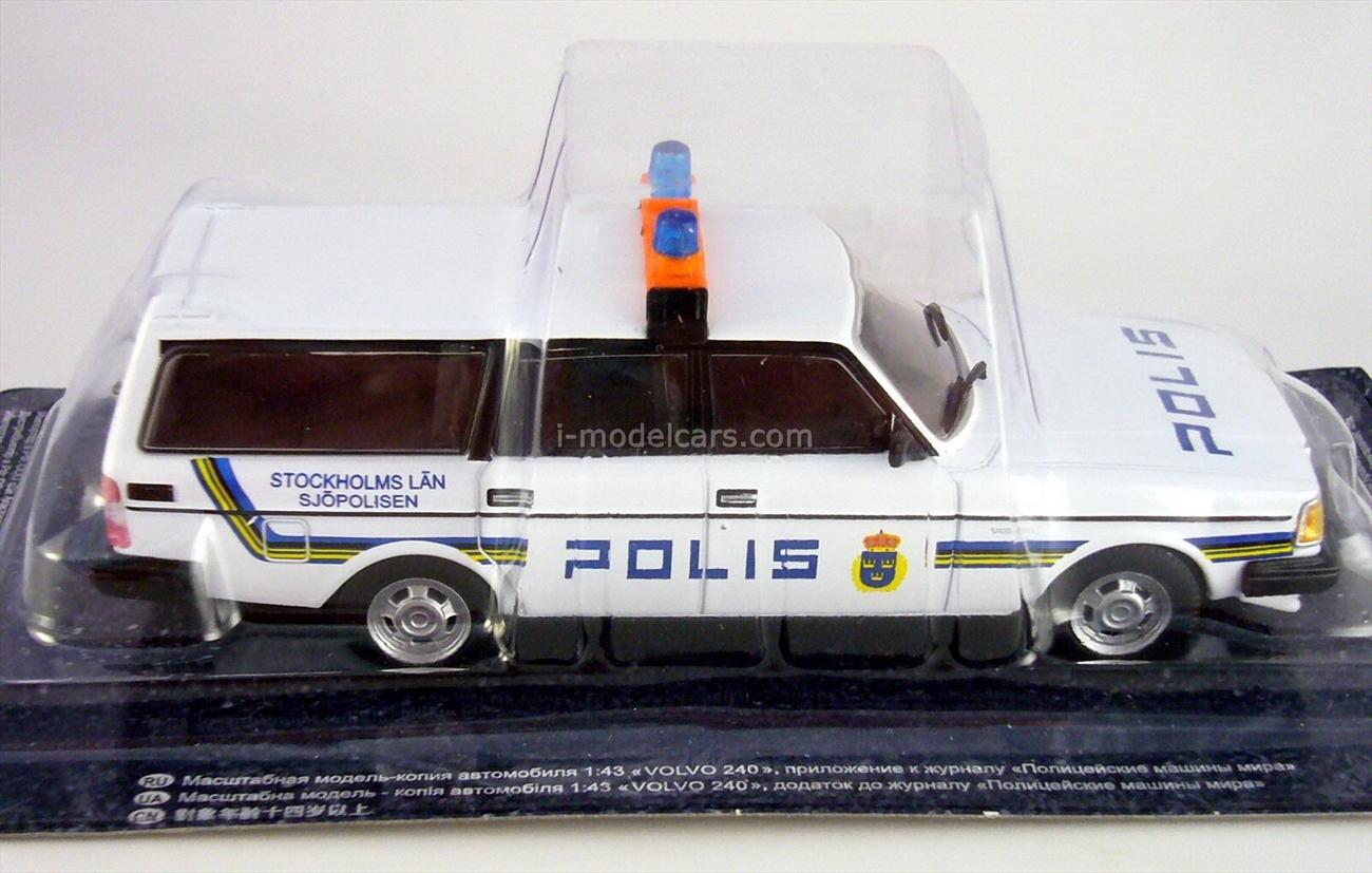 Volvo 240 Police Sweden 1:43 DeAgostini World's Police Car #56