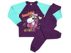 DL001/159M-102-2 пижама для девочек, фиолетовая