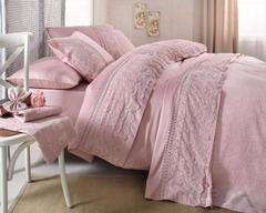 Набор КПБ с покрывалом Gelin Home  SAL розовый евро