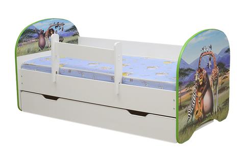 Кровать детская с фотопечатью Мадагаскар