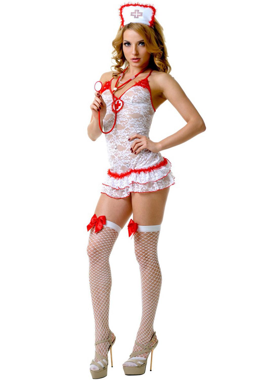 Эротический костюм медсестры с аксессуарами для взрослых игр (Медсестры)