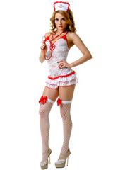Эротический костюм медсестры с аксессуарами для взрослых игр