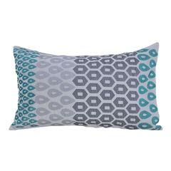 Подушка декоративная 30х45 Hamam Payas аквамарин-темно-серая