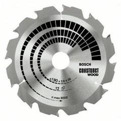 Диск по дереву Bosch 190х2,6х30 мм Construct Wood Z12