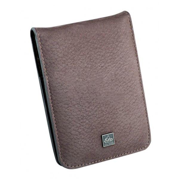 Маникюрный набор Erbe, 4 предмета, цвет коричневый, кожаный футляр