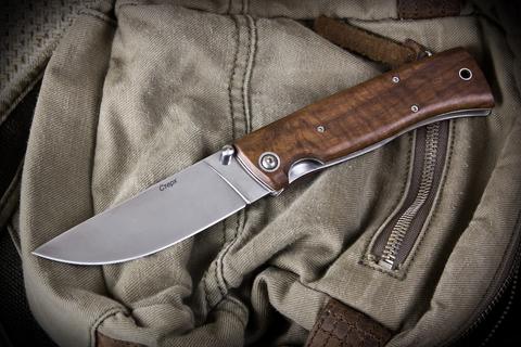 Складной нож НСК Стерх Полированный Орех