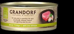 Grandorf влажный корм для кошек филе тунца с мясом краба 70 г