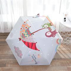 Зонт миниатюрный, ультратонкий с защитой от УФ, 6 спиц, фото принт 01