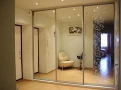 Шкаф зеркальный 3-х дверный, ширина 210 см