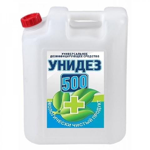 концентрат УНИДЕЗ 500 антимикробный  раствор  20 литров Антисептик на основе хлора и и гидропероксида