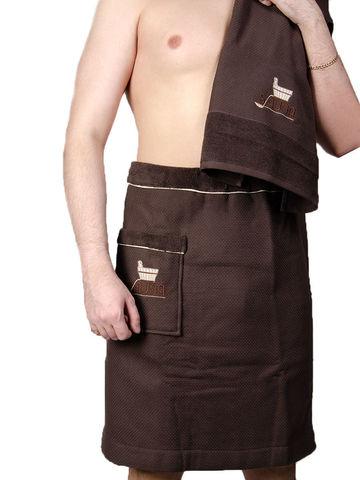 DUFOUR  ДУФОУР набор мужской для сауны коричневй Maison Dor Турция