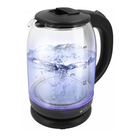 Чайник стеклянный HOME ELEMENT HE-KT186 черный жемчуг