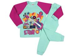 DL001/159M-102-3 пижама для девочек, бирюзовая