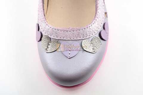 Туфли для девочек кожаные на липучке Тотто, цвет сиреневый, 10210B. Изображение 10 из 12.