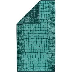 Полотенце 80х150 Cawo-JOOP! Gala Croco 1644 бирюзовое