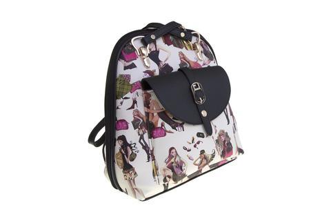 Средний стильный женский повседневный рюкзак с рисунком из экокожи Dublecity 4698-6