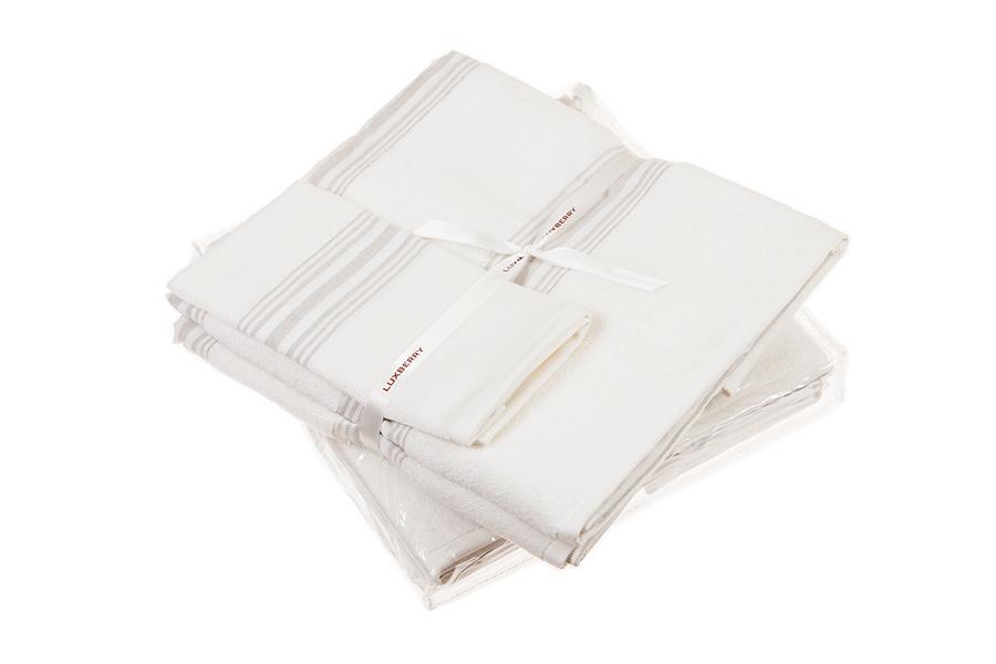 Наборы полотенец Набор полотенец 3 шт Luxberry SPA 1 белый/льняной nabor-polotenets-3-sht-luxberry-spa-1-belyylnyanoy-portugaliya.jpg