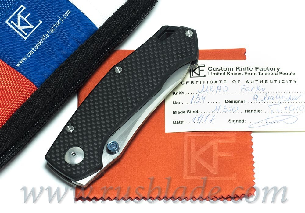 CKF MKAD Black Farko knife (M390, Ti, bearings)