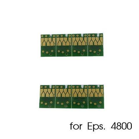 Чипы для картриджей, ПЗК и СНПЧ для Epson Stylus Pro 4800 (комплект 8 штук)