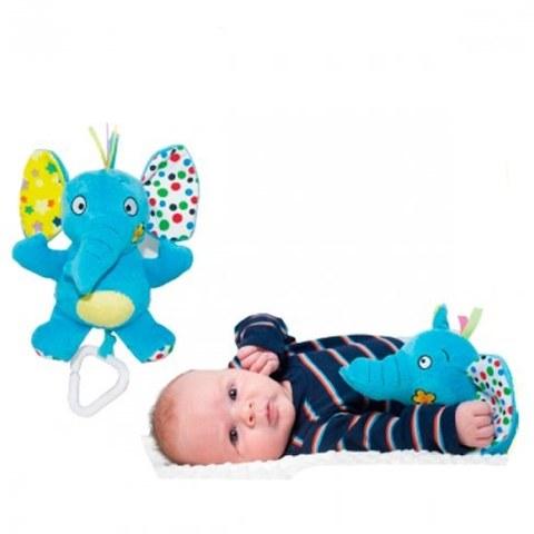 Игрушка-подвеска Biba Toys Забавный слон/Забавный лев JF068