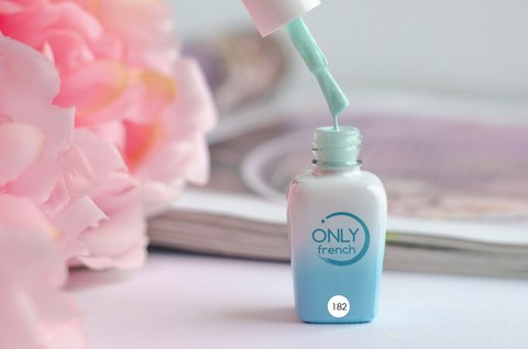 Гель-лак Only French, LightBlue Touch №182, 7ml
