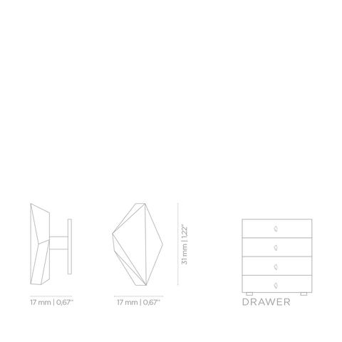 Мебельная ручка PullCast KARAT CM3007