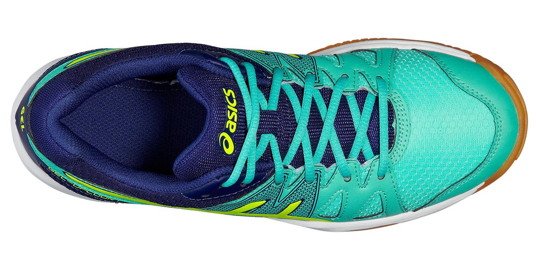 Женские волейбольные кроссовки Асикс Gel-Upcourt (B450N 7007) бирюзовые