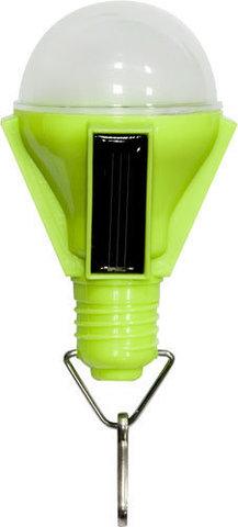Светильник садово-парковый на солнечной батарее «Лампочка», 4 LED зеленый, D 68*155м , PL262 (Feron)