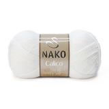 Пряжа Nako Calico белый 208