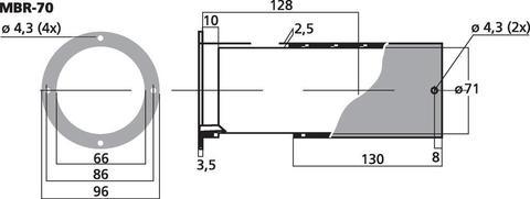 Фазоинвертор MBR-70