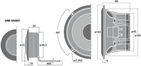 Автомобильная компонентная акустика Carpower CRB-165SET