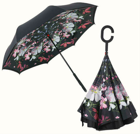 Купить онлайн Обратный зонт ReU Flowers (арт.RU-9) в магазине Зонтофф.