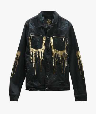 Куртка джинсовая The Saints Sinphony GOLD DRIP JACKET