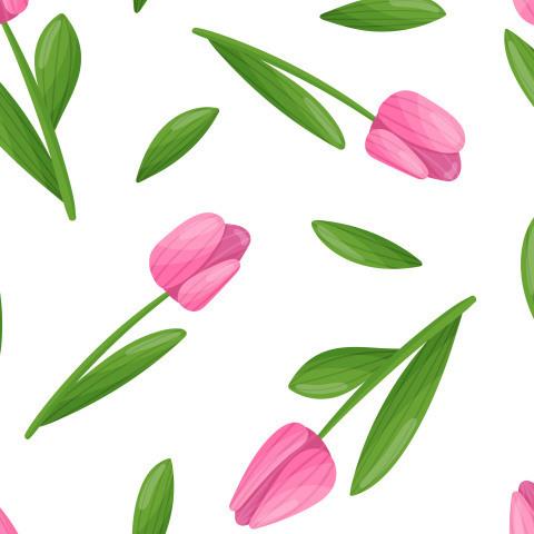 Абстрактный паттерн с тюльпанами
