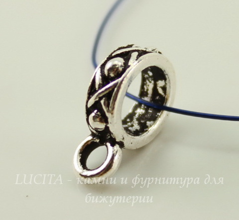 "Бейл TierraCast ""Легенда"" 13х4 мм (цвет-античное серебро)"