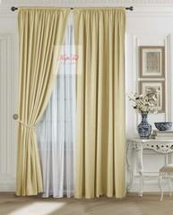 Комплект штор Луи (золото). Шторы из стриженного бархата.